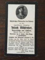 Sterbebild Wk1 Bidprentje Avis Décès Deathcard IR3 CERNY EN LAONNOIS Aus Gars Am Inn - 1914-18