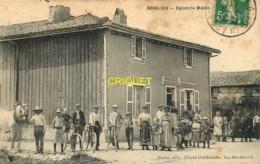 51 Noirlieu, Epicerie Malon, Animée Avec Habitants Et Gérants, Belle Carte Pas Courante Affranchie 1913 - Autres Communes