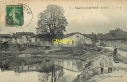 51 Vavray Le Grand, Le Jard, 2 Enfants Au 1er Plan, Carte Pas Courante Affranchie 1913 - Autres Communes