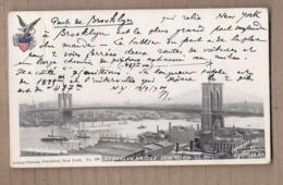 CPA USA - NEW YORK CITY - Brooklyn Bridge - SUPERBE PLAN Général De La Ville - Jolie Oblitération 1900 Verso - Vrijheidsbeeld
