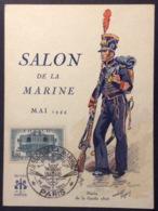 CM247 Carte Maximum Salon De La Marine Paris Marin De La Garde 25/6/1944 T 609 - Cartas Máxima