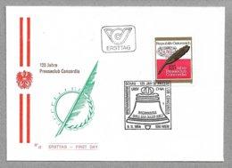 E56 - Poste 1624 Sur FDC Du 9.11.1984 - Club De Presse CONCORDIA - - 1981-90 Covers