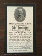 Sterbebild Wk1 Bidprentje Avis Décès Deathcard RIR12 RANCOURT MAUREPAS August 1916 Aus Fehling - 1914-18