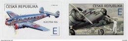 2019 : Paire Horizontale  Avion Electra 10A (1937) De Jan Bata Au Dcollage Et Dans Les Nuages /  Airplane - Neufs