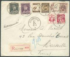 N°318/319 + PUB 58-63-69 Obl. Sc ZEEBRUGGE Sur Lettre Recommandée Du 21-XI-1933 Vers Marseille. - Superbe - 14626 - Publicités
