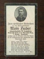 Sterbebild Wk1 Bidprentje Avis Décès Deathcard RIR12 ECURIE ST. LAURENT BLANGY Oktober 1914 ARRAS Aus Traunstein - 1914-18