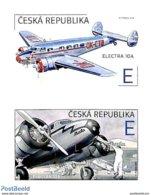2019 : Paire Verticale  Avion Electra 10A (1937) De Jan Bata Au Décollage Et Dans Les Nuages /  Airplane - Neufs