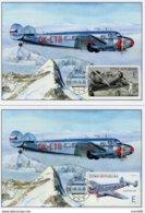 2019 : 2 Cartes Maximum  Avion Electra 10A (1937) De Jan Bata Au Décollage Et Dans Les Nuages /  Airplane Maximum Card - FDC
