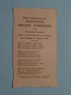 H. Communie > Francine VERDICKT I/d Kerk Van BAESRODE Op 18 Maart 1934 ( Details - Zie Foto's ) ! - Communion