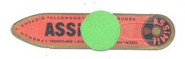 """Marque-pages Publicitaire Rouge- """"ASSIMIL  """" Langue, étude, Lecture,....(b260/2) - Marque-Pages"""