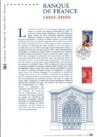 DOCUMENT FDC 2000 BICENTENAIRE DE LA BANQUE DE FRANCE - Documents Of Postal Services