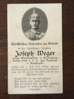 Sterbebild Wk1 Bidprentje Avis Décès Deathcard IR21 HAUBOURDIN Aus Regensburg - 1914-18