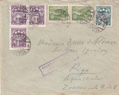 Lettonie - Lettre De 1940 ° - Oblit Rezekne - Exp Vers Riga - Avec Vignette - Lettonie
