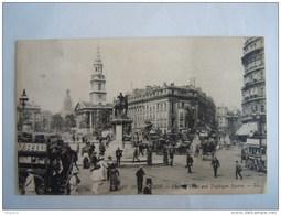 Cpa 86 London Charing Cross And Trafalgar Square Animée  LL Used Circulée 1908 - Trafalgar Square