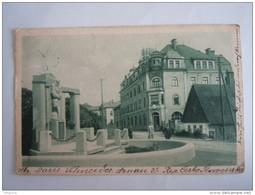 Cpa Arnau A. D. E. Kriegerdenkmal Und Post Circulée Used 1925 - Tschechische Republik
