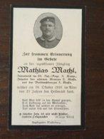 Sterbebild Wk1 Bidprentje Avis Décès Deathcard IR20 Oktober 1916 - 1914-18