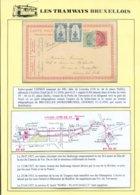 Collection Jean De Bast - TRAM - Montée Sur Feuille D' Album Avec Explications Détaillées De La LIGNE 59-60-61.  Superbe - Lettres & Documents