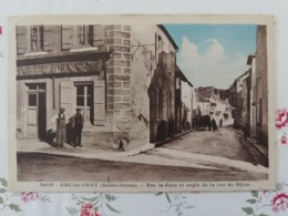 Arc Les Gray Rue De La Gare Et Angle De La Rue De Dijon  Carte Couleur Haute Saône Franche Comté - Sonstige Gemeinden