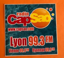 RADIO CAP SAO LYON VIENNE OYONNAX - AUTOCOLLANT - Autocollants