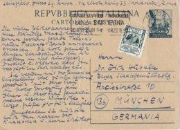 ITALIE 1953  ENTIER POSTAL/GANZSACHE/POSTAL STATIONERY CARTE DE ROMA - 6. 1946-.. Repubblica