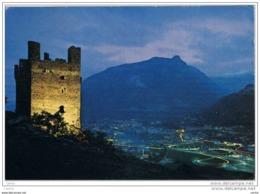 USSEL (AO):   CASTELLI  VALDOSTANI  -  NELLO  SFONDO  CHATILLON  -  FG - Castillos