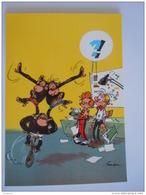 1986 Trésors Du Journal De Spirou Carte Postale 75 Illustration  Couverture Pour Le 99é Album Du Journal André Franquin - Bandes Dessinées