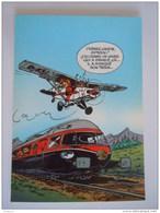1986 Trésors Du Journal De Spirou Carte Postale 73 Illustration  Couverture Pour Le 93é Album Du Journal André Franquin - Stripverhalen
