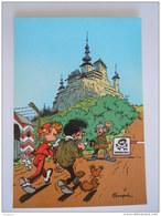 1986 Trésors Du Journal De Spirou Carte Postale 71 Illustration  Couverture Pour Le 90é Album Du Journal André Franquin - Stripverhalen