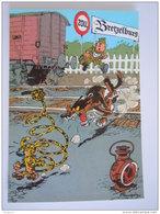 1986 Trésors Du Journal De Spirou Carte Postale 70 Illustration  Couverture Pour Le 89é Album Du Journal André Franquin - Stripverhalen