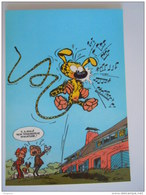 1986 Trésors Du Journal De Spirou Carte Postale 62 Illustration  Couverture Pour Le 81é Album Du Journal André Franquin - Stripverhalen