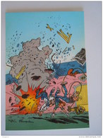 1986 Trésors Du Journal De Spirou Carte Postale 34 Illustration  Couverture Pour Le 52é Album Du Journal André Franquin - Stripverhalen