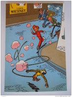 1986 Trésors Du Journal De Spirou Carte Postale 28 Illustration  Couverture Pour Le 46é Album Du Journal André Franquin - Stripverhalen