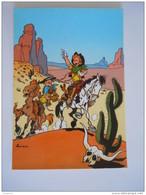 1986 Trésors Du Journal De Spirou Carte Postale 14 Illustration  Couverture Pour Le 32é Album Du Journal André Franquin - Stripverhalen