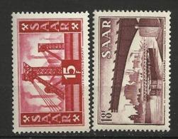 SARRE      N° YVERT   337/338   NEUF SANS CHARNIERES     ( NSCH 1/05 ) - Unused Stamps