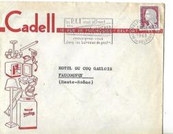Enveloppe  Commerciale 1963 / 90 BELFORT / CADELL Electroménager - France