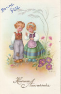 Heureux Anniversaire : Enfants Discutant - ( Illust. C. VIVEY - ) - Cumpleaños