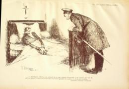 """LITHO J.G.DOMERGUE-28-""""LES ATROCITES ALLEMANDES"""" à SOMPUIS (51)-1914 - Lithographien"""
