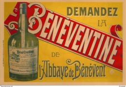 23  BENNEVENT - L 'ABBAYE , Affiche Originale  De La LIQUEUR De La BENEVENTINE - Benevent L'Abbaye