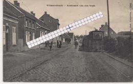 """WILMARSDONCK-WILMARSDONK-ANTWERPEN""""AANKOMST VAN DE STOOMTRAM-BOULEVARD""""HOELEN 1242 UITGIFTE 1905 - Antwerpen"""