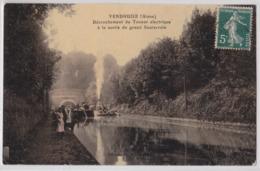 VENDHUILE (Aisne) - Décrochement Du Toueur électrique à La Sortie Du Grand Souterrain - Péniche - Batellerie - France