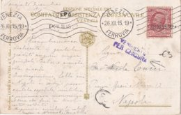 ITALIE 1915 CARTE POSTALE CENSUREE DE VENEZIA - Storia Postale