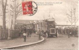 TOP CPA !! LE COTEAU (42) Le Train RENARD - Inauguration Le 5 Avril 1908 - Départ De La Gare Du Coteau - Frankrijk