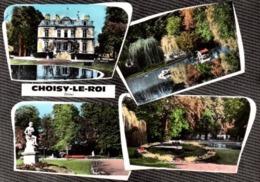 CPSM - CHOISY-le-ROI - LA MAIRIE Et Son Parc ... Multivues - Choisy Le Roi