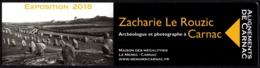 FRANCIA 2018 - SEGNALIBRO / BOOKMARK - ZACHARIE LE ROUZIC - ARCHEOLOGUE ET PHOTOGRAPHE A CARNAC - Segnalibri