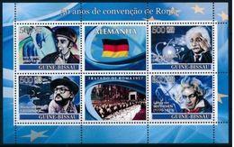 Guinée Bissau 2008  Nobel  Albert EINSTEIN BEETHOVEN Franz MARC Rainer WERNER FASSBINDER MNH - Prix Nobel