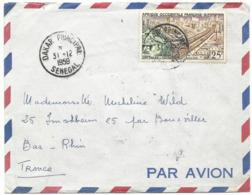 LETTRE PAR AVION 1959 AVEC TIMBRE A 25 FR ET CACHET DAKAR PRINCIPAL - A.O.F. (1934-1959)