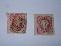 TIMBRE PORTUGAIS 1862 - 2 TIMBRES N°15 - OBLITERES - PORTUGAL STAMPS  (A.F) - Oblitérés