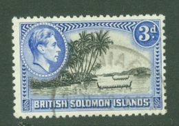 British Solomon Is: 1939/51   KGVI    SG65a   3d   [Perf: 12]   Used - Isole Salomone (...-1978)
