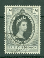 British Solomon Is: 1953   Coronation     Used - Iles Salomon (...-1978)