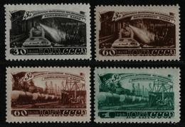 Russia / Sowjetunion 1948 - Mi-Nr. 1268-1271 ** - MNH - Bergbau (I) - 1923-1991 UdSSR